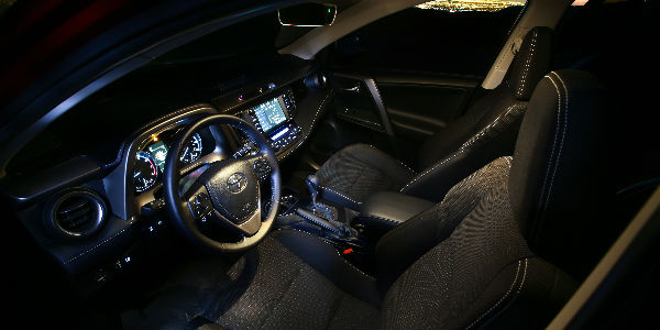 Interior View of 2018 Toyota RAV4 Adventure in Black