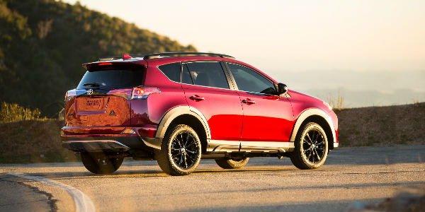 2018 Toyota RAV4 Adventure Exterior View in Red