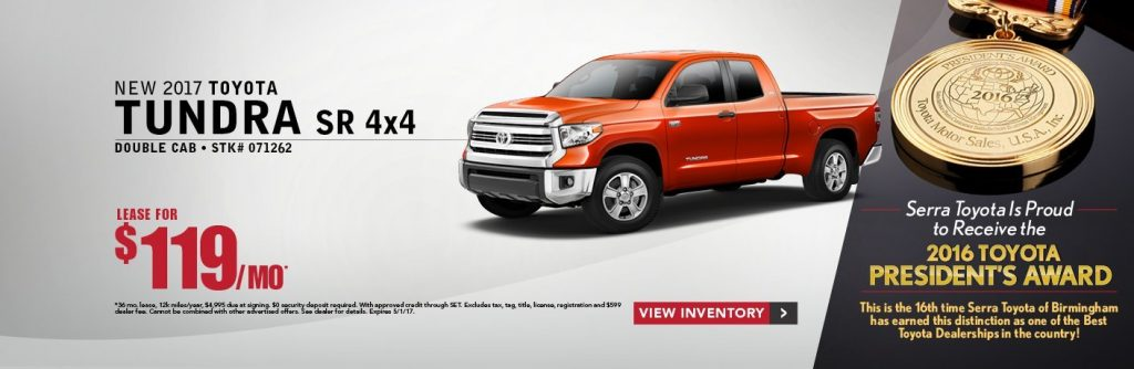 2017 Toyota Tundra Lease Offer