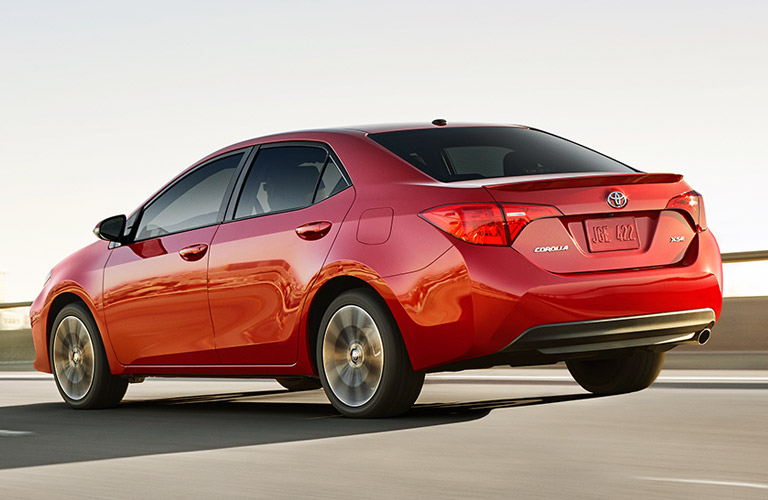 2017 Toyota Corolla Rear End in Red