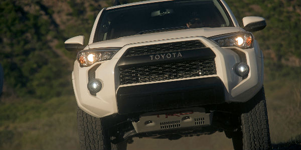 2019 Toyota 4Runner TRD Pro Front End View in White