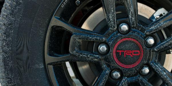 TRD Emblem on Wheel of 2019 Toyota TRD Pro Vehicle