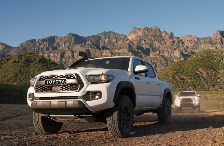 Side View of the 2019 Toyota Tacoma TRD Pro in White