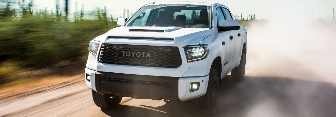 2019 Toyota Tundra TRD Pro Exterior Front End View in White