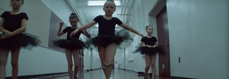 Ballerina Dancers in Black Tutus