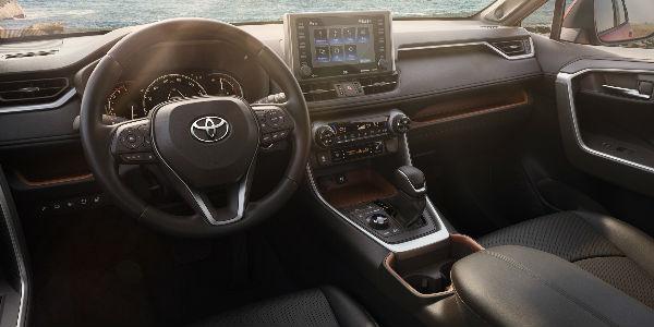 2019 Toyota RAV4 Interior View in Black