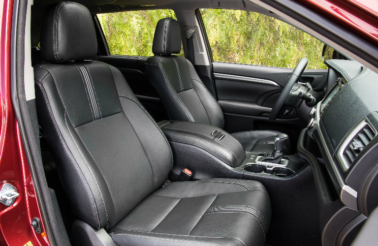 2018 Toyota Highlander Front Interior Seats