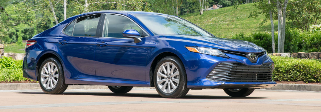 2018 Toyota Camry exterior in blue