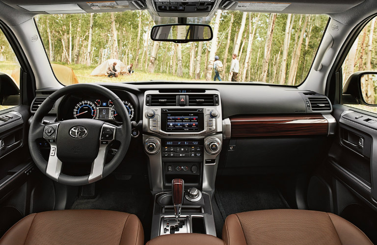 2018 Toyota 4Runner front interior and dashboard