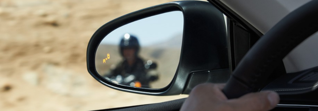 Side mirror with Toyota Blind Sport Monitor warning light