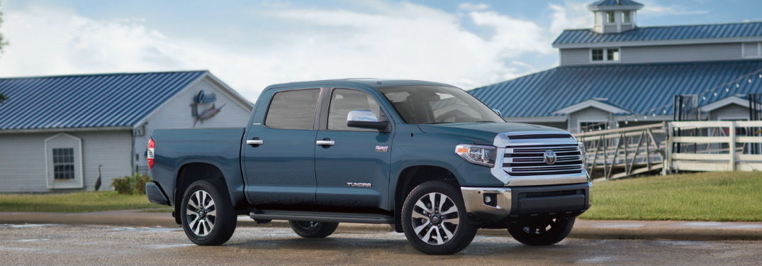 2019 Toyota Tundra in Cavalry Blue side profile