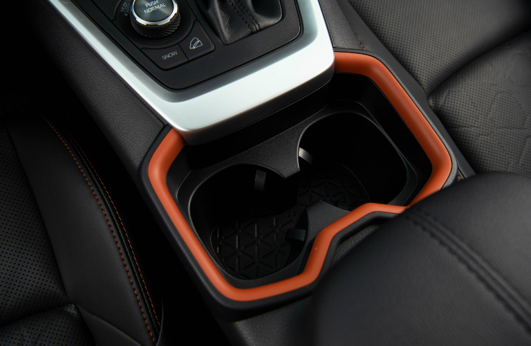 2019 Toyota RAV4 center console and cupholder