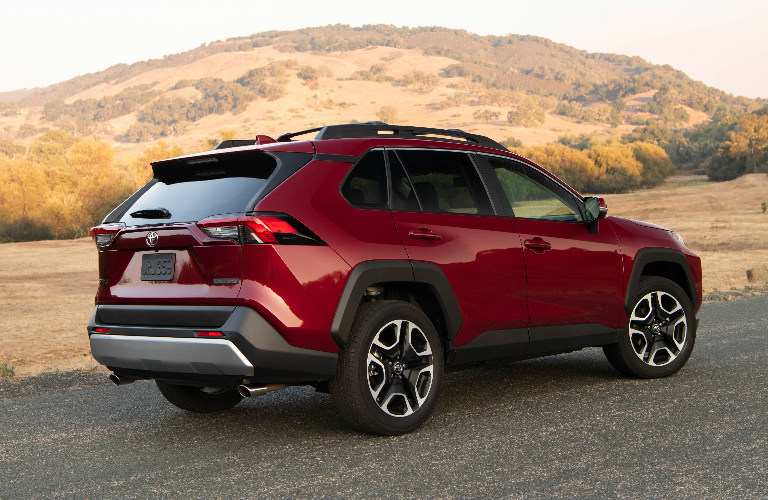 2019 Toyota RAV4 rear exterior in red
