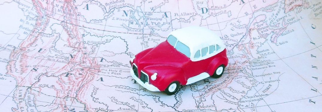 Toy Car on North American Map