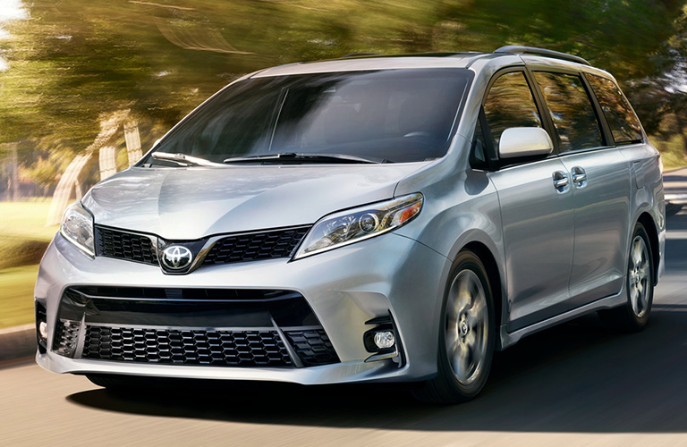 2018 Toyota Sienna exterior in grey