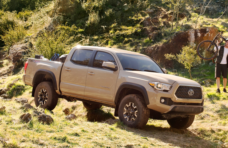 2019 Toyota Tacoma in a field of grass