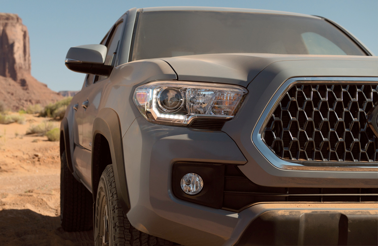 2019 Toyota Tacoma grille and headlights
