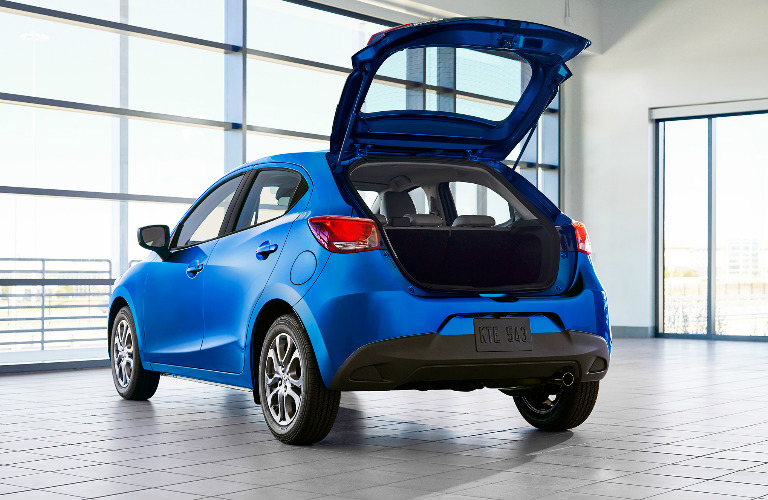 2020 Toyota Yaris Hatchback exterior with the back opened