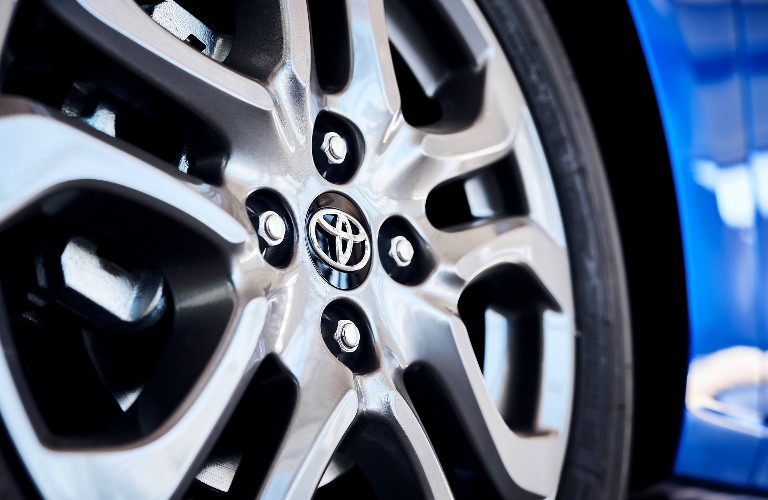 2020 Toyota Yaris Hatchback wheel close up