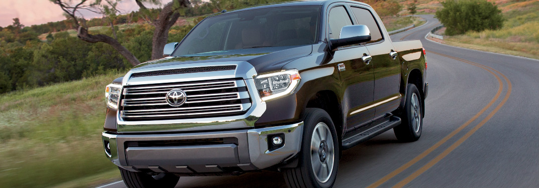 2018 Toyota Tundra driving on a country road at sunset