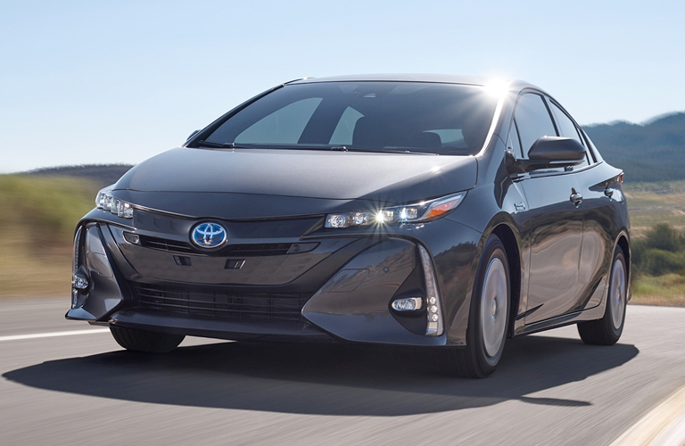 2019 Toyota Prius Prime front grille and headlights
