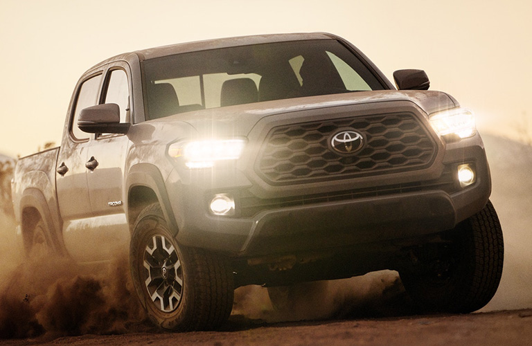 2020 Toyota Tacoma front grille and headlights