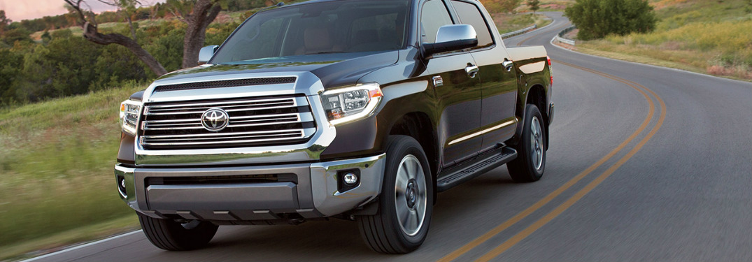 2019 Toyota Tundra front grille and headlights