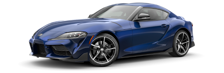 2020 Toyota GR Supra Downshift Blue side view