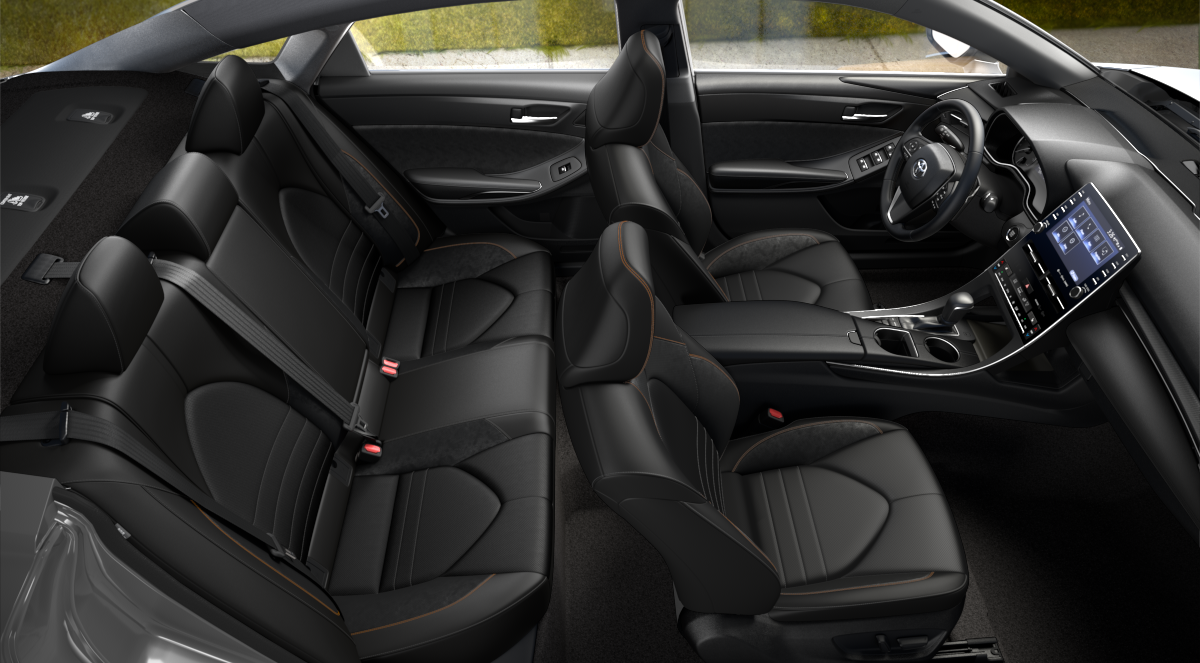2020 Toyota Avalon Black SofTex + Ultrasuede Interior Color Option