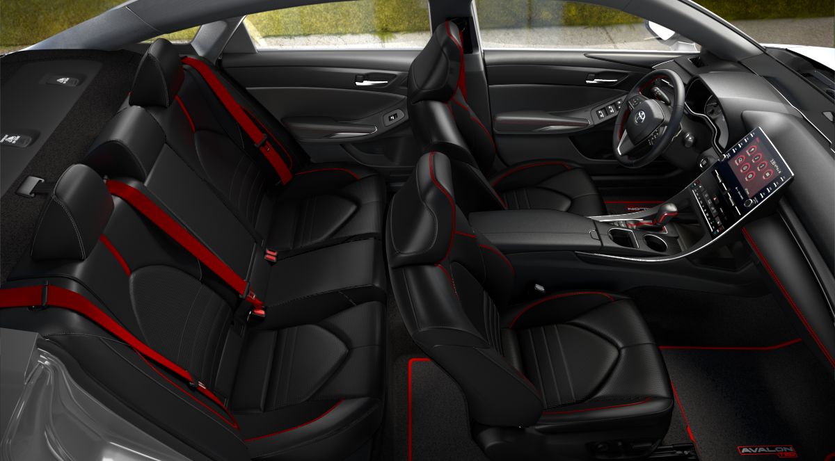 2020 Toyota Avalon Black/Red SofTex + Ultrasuede Interior Color Option