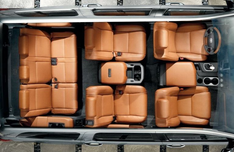 Image of the three rows of seating available inside the 2020 Toyota Sequoia