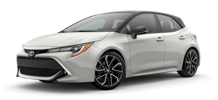 2020 Toyota Corolla Hatchback in Blizzard Pearl/Midnight Black Metallic Roof