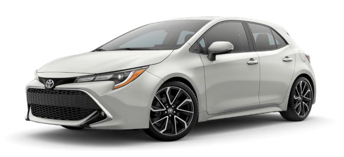 2020 Toyota Corolla Hatchback in Blizzard Pearl