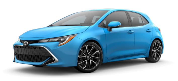 2020 Toyota Corolla Hatchback in Blue Flame