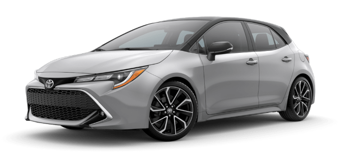 2020 Toyota Corolla Hatchback in Classic Silver Metallic/Midnight Black Metallic Roof