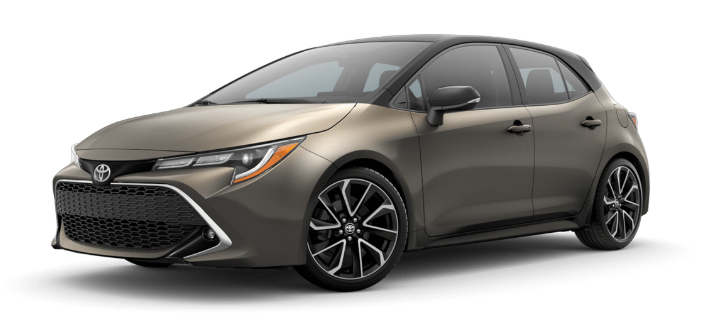 2020 Toyota Corolla Hatchback in Oxide Bronze/Midnight Black Metallic Roof