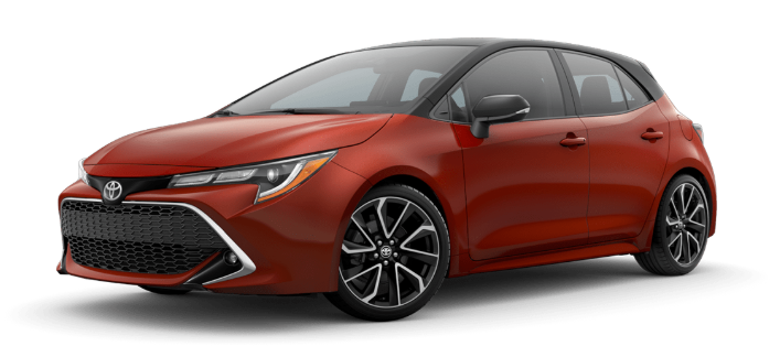 2020 Toyota Corolla Hatchback in Smoked Paprika/Midnight Black Metallic Roof