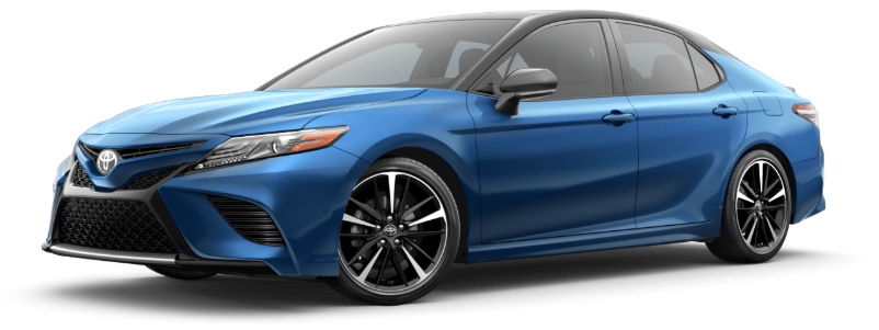 2020 Toyota Camry in Blue Streak Metallic/Midnight Black Metallic Roof