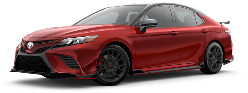 2020 Toyota Camry in Supersonic Red/Midnight Black Metallic Roof (New for 2020)