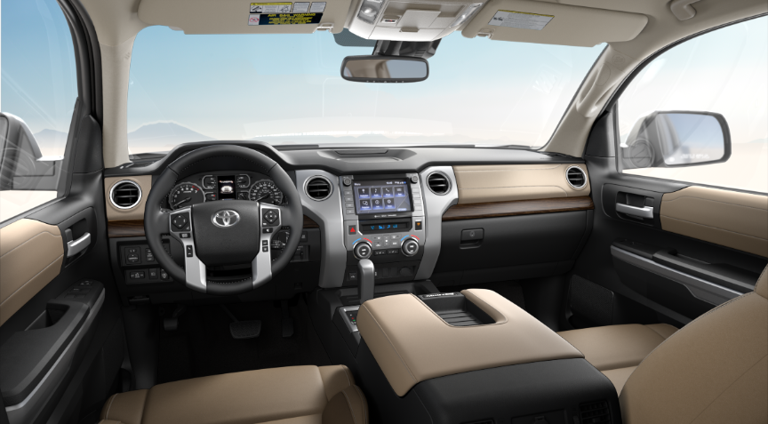 Sand Beige Leather in 2020 Toyota Tundra