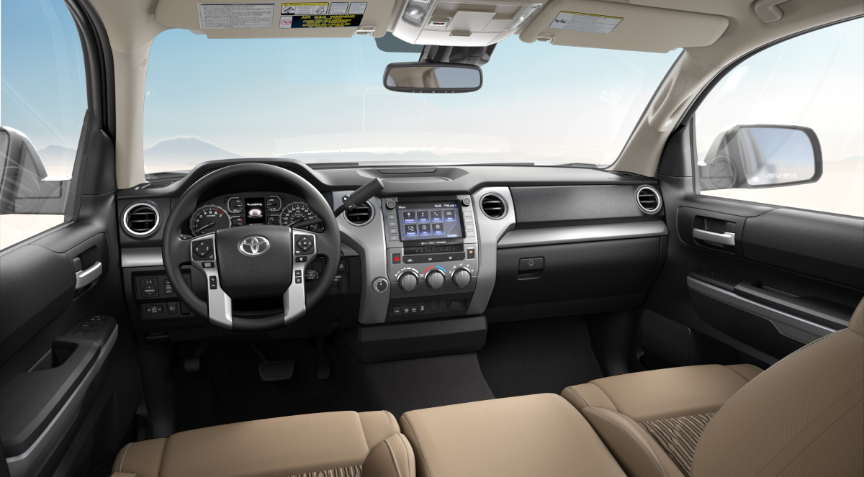 Sand Beige Fabric in 2020 Toyota Tundra