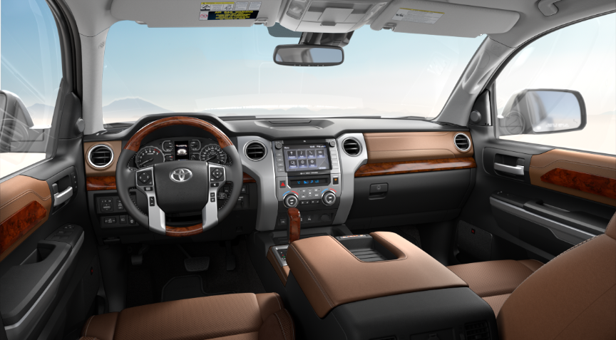 Premium Brown Leather in 2020 Toyota Tundra