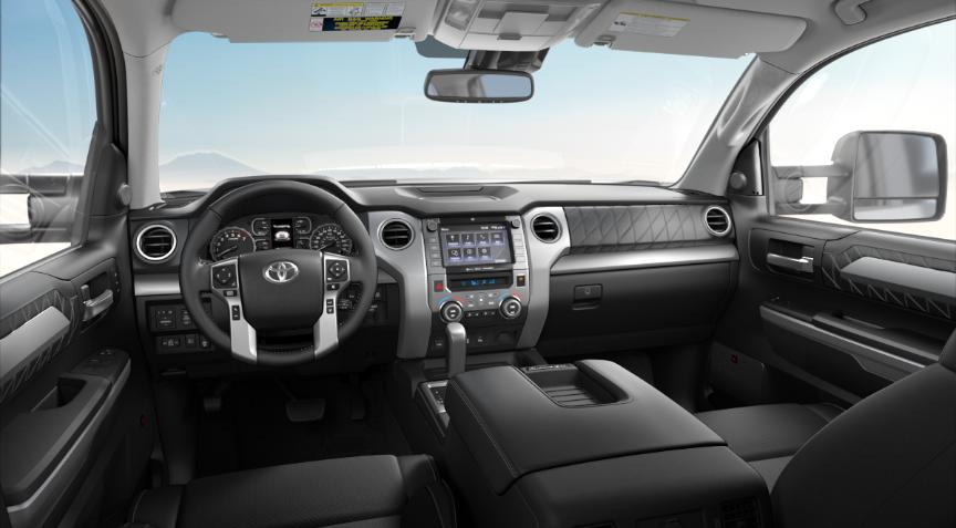 Premium Black Leather in 2020 Toyota Tundra