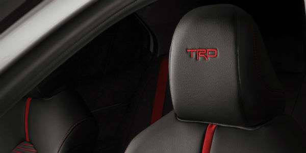 Closeup of headrests in 2020 Toyota Camry TRD