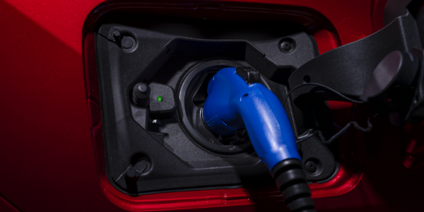 Closeup of charger in 2021 Toyota RAV4 Prime