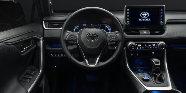 Interior view of 2021 Toyota RAV4 Prime