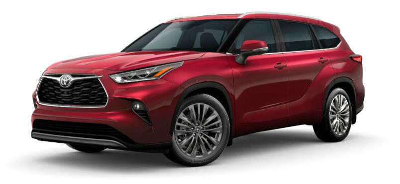 2020 toyota highlander interior and exterior color options lineup