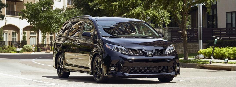 Black 2020 Toyota Sienna Nightshade driving