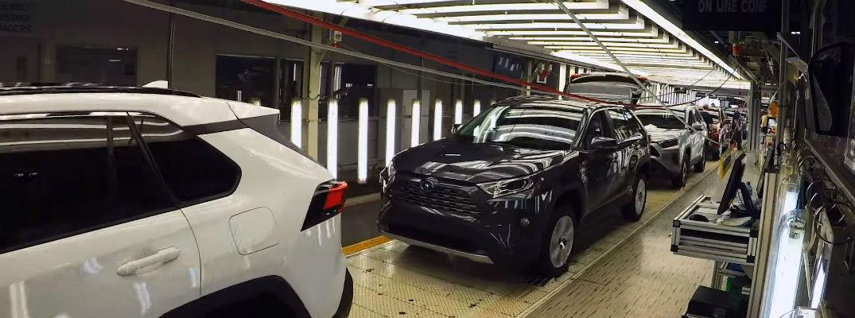 Screenshot of Toyota RAV4 manufacturing video