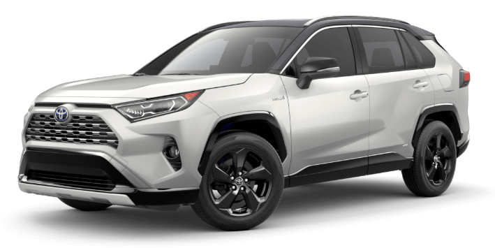 2020 Toyota RAV4 in Blizzard Pearl/Midnight Black Metallic Roof